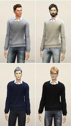 Rusty Nail: Basic sweater W • Sims 4 Downloads