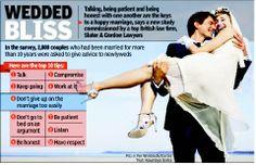 Tips for wedded bliss