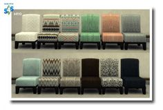 Blackys Sims 4 Zoo: Lap Of Luxury Modern Chair by MsTeaQueen • Sims 4 Downloads