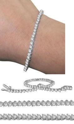 Diamond 10976: I1 H Tennis Bracelet 3.75Ct Natural Diamond 14K White Yellow Rose Gold Prong Set -> BUY IT NOW ONLY: $2098.99 on eBay!