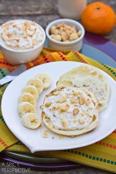 Toasted Coconut Breakfast Spread..A quick and easy breakfast recipe to help start your day off right! This creamy whipped Toasted Coconut Breakfast Spread has a secret ingredient that will give you a little pep in your step throughout the day.