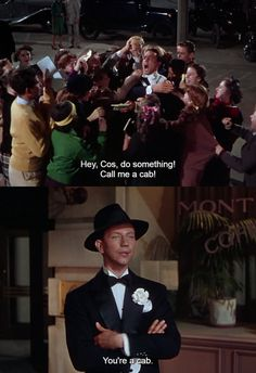 """Singing in the Rain"" Starring Donald O'Connor and Gene Kelly. I love this quote! XD Makes me laugh every time :) Donald O'connor, Sara Bareilles, Old Movies, Great Movies, Singin In The Rain, Casablanca, Movies Showing, Movies And Tv Shows, Broadway"