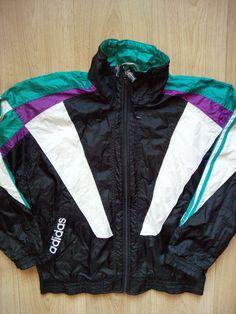 adidas originali d'epoca 90 'mens nylon tuta sopra la giacca,