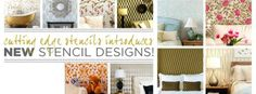 Cutting Edge Stencils introduces 11 new gorgeous stencil designs! Find them all here: http://www.cuttingedgestencils.com/wall-stencils-stencil-designs.html
