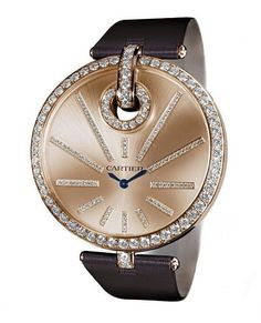 Woman watch with leather belt in brown color #Womanwatch #watches