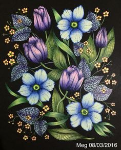 Blomstermandala By Maria Trolle Lovely Book Coloured Meg