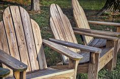 photo by Scott Norris.  Adirondack chairs - White Pines State Forest, near Oregon Illinois.