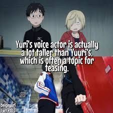 Image result for yuri on ice facts