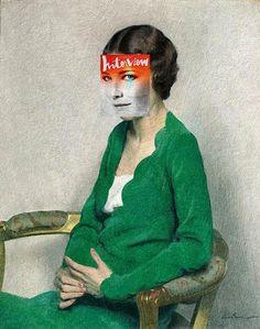"Cate Blanchet / ""Woman in a Green Dress"" by Sir Herbert James Gunn (circa 1930s-40s)"