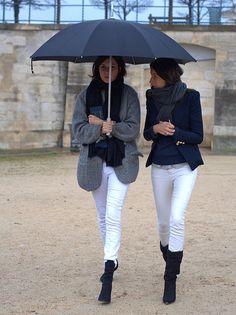 white-jeans-blazers-grey-blazer-black-booties-french-style-editor-style-via-flickr.com