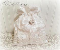 White Dollar Dance Bag Wedding Money Bridal Purse