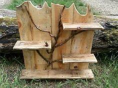 Hand made drift wood shelf