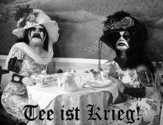 Black metal tea party