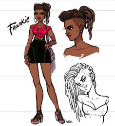 Since Frankie is the Lady of the Hour here in Burnside - I thought I'd share my very first concept sketch of her <3