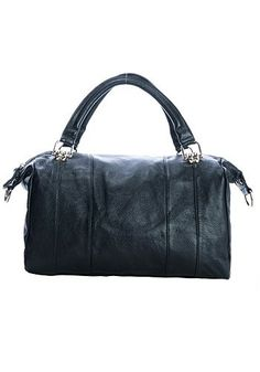 Daphne Chained Leather Bag Black