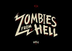 Zombies From Hell by Inject Design , via Behance