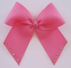 Bright Pink Cheer Bow Cheerleading Hair Bow by MadiLeighBowtique, $5.00