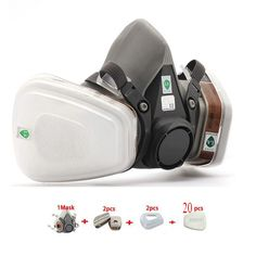 16.99$  Buy here - http://alivxw.shopchina.info/go.php?t=32704070659 - 6200 Respirator Gas Mask 7Suits Dust Filter Paint Dust Spray Half face Mask Anti-Fog Haze Masks Pesticide Formaldehyde Particles 16.99$ #buyonline