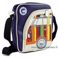 Sacoche rembourrée pour tablette déco vw combi Volkswagen multicolore Brisa rétro vintage collection
