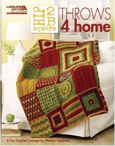 The perfect throw afghans for your home decor. http://www.maggiescrochet.com/collections/crochet/products/hip-2b-square-throws-4-home