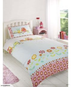 Owls Printed Duvet Set Single - This adorable bedding set consists of detailed owl creatures lining the top of the cover all sitting on a branch which your child is sure to love, these fun loving characters also feature on the pillow case. Double Duvet Covers, Single Duvet Cover, Zara Home, Bed Sets, Comforter Sets, King Comforter, Kids Twin Bedding Sets, Owl Bedding, Duvet Cover Sizes
