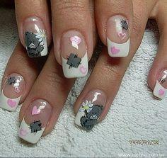 """bears nail art """"me to you"""""""