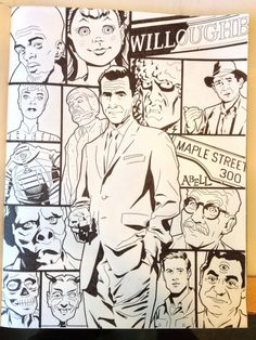 Rod Serling from The Twilight Zone. Art by Dusty Abell