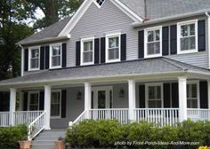 Vinyl siding color tuscan clay white trim dark gray for Country porch coupon code