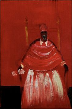 Francis Bacon portrait of a screaming black Pope. Arte Horror, Horror Art, Francis Bacon Pope, Bacon Tattoo, Ivar Hack, Weird Art, Surreal Art, Funny Art, Dark Art