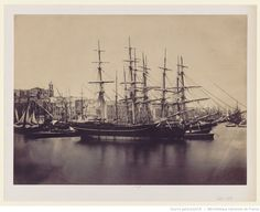 Ships in the Mediterranean, photograph by Gustave Le Gray, 1857