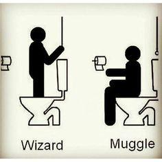 Funny Harry Potter Muggle Meme :D Harry Potter World, Mundo Harry Potter, Harry Potter Jokes, Harry Potter Universal, Harry Potter Fandom, Hogwarts, Ridiculous Harry Potter, Harry Potter Bathroom, Fans D'harry Potter