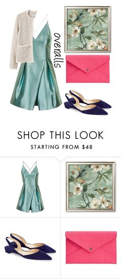 """""""overalls"""" by dashakrukovskaya ❤ liked on Polyvore featuring Topshop, Paul Andrew, Danielle Nicole and MANGO"""