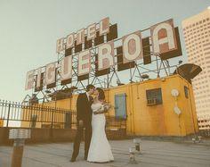Hotel Figueroa wedding shot by Yuna Leonard Wedding Reception, Our Wedding, Wedding Venues, Dream Wedding, Wedding Bells, Wedding Portraits, Wedding Photos, Bohemian Hotel, Leonards Photography