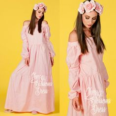 Amazing Pink Maxi dress cut from 100% cotton fabric! The most beautiful design, fabric and color!