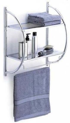 Neu Home 2-Tier Bathroom Shelf With Towel Bars - NEW - http://home-garden.goshoppins.com/home-improvement/neu-home-2-tier-bathroom-shelf-with-towel-bars-new/