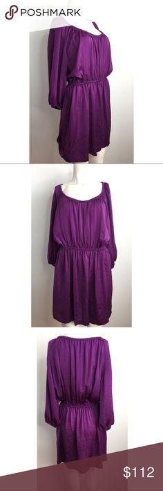 Joie Silk Purple Dress Gorgeous purple silk dress by Joie. Length hits above the knees. Elastic at the waist and on the sleeve area. Gypsy/ bohemian vibe. Looks cute with a vintage looking leather belt. #9011738 Joie Dresses