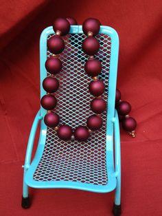 Simple Elegance: Handmade Purple Acrylic Beaded Necklace by ReprievesCorner on Etsy