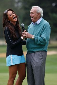 Holly Sonders and Arnold Palmer Fox Sports, Sports Women, Female Sports, Holly Sonders, Pga Tour Players, Golf Now, Arnold Palmer, Golf Sweaters, Golf Training