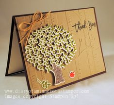 thoughtful branches thank-you by stamplady102 - Cards and Paper Crafts at Splitcoaststampers