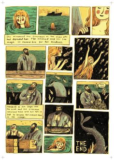 THE MERMAID: Cornish folktale graphic short story by Briony Smith, page 6.