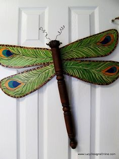 table leg leopard and peacock wing dragonfly Lucy Designs
