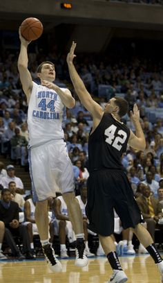 UNCP in a basketball game vs. NC tar heels. Im pretty sure we lost this game by many points.