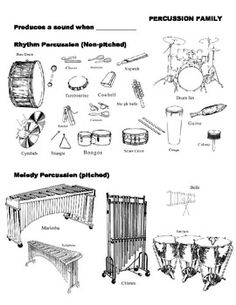 Instrument Family Pictures (PDF) - free download