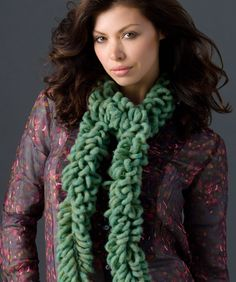 Easy-Peasy One-Ball Crochet Loop Scarf: free pattern