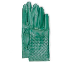 Bottega Veneta Intrecciato Napa Short Gloves ($380) ❤ liked on Polyvore featuring accessories, gloves, kelly green, short gloves, lined gloves, knuckle gloves, bottega veneta and nappa leather gloves