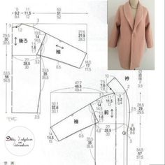 Likes, 44 Comments – Dikiş Kalıpları ve Patronları ( – Beauty Pin Coat Pattern Sewing, Sewing Coat, Coat Patterns, Pattern Drafting, Dress Sewing Patterns, Jacket Pattern, Blouse Patterns, Doll Clothes Patterns, Sewing Patterns Free