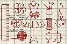 Grille gratuite point de croix : Accessoires de couture 3