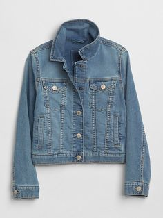 Explore Gap for a wide selection of girls coats and jackets and more. Find girls' Outerwear in a range of prints and colors available now. Middle School Fashion, School Style, Jean Jacket For Girls, Sweater Sale, Baby Kids Clothes, Summer Wardrobe, Denim, Sweaters, Jackets