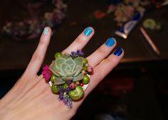 Succulent flowers ring!