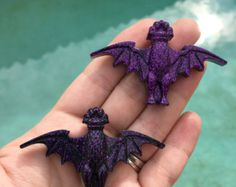 Haunted mansion bat brooch